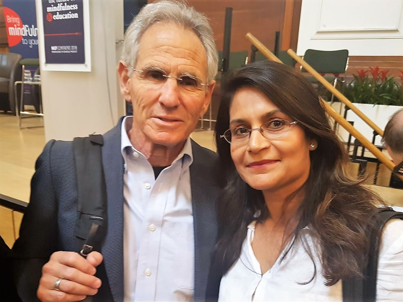 With Jon-Kabat Zinn at a conference in London.